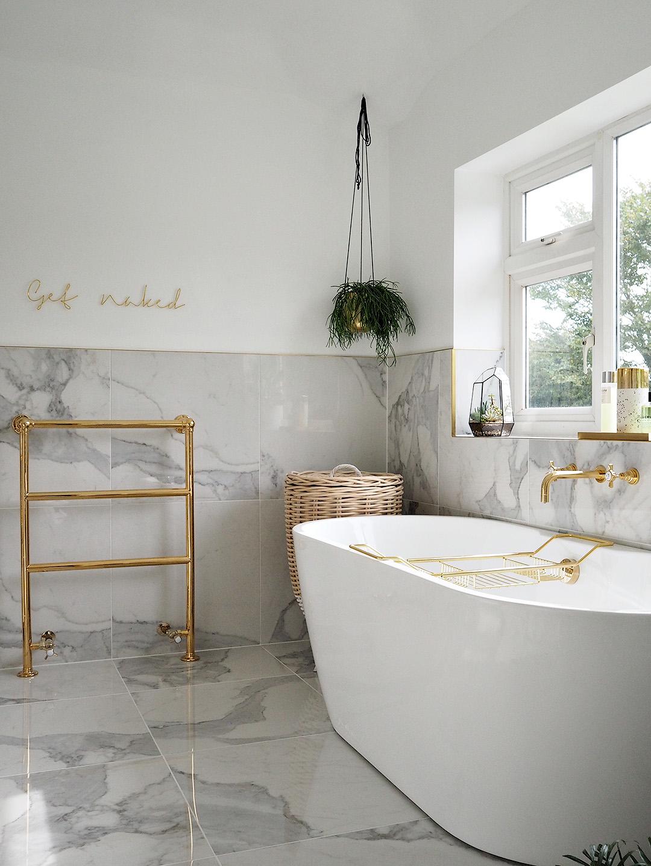 Marble Gold Bathroom Reveal Lust Living